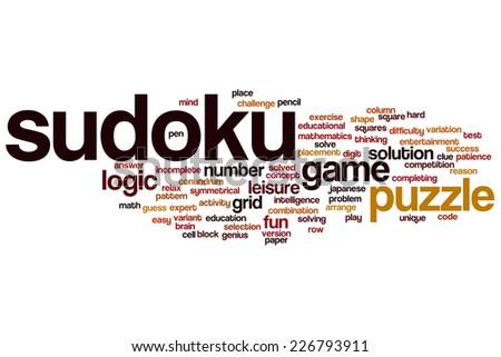 sudoku word cloud concept stock illustration 226793911 shutterstock
