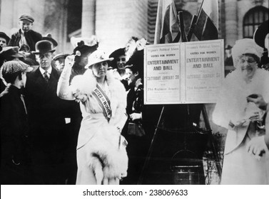 Suffragist from the Women's Political Union, c, 1917,