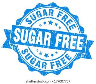 sugar free blue grunge stamp