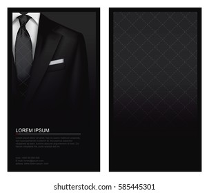 Suit background with tie