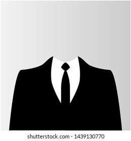 Suit icon isolated on white background.  illustration