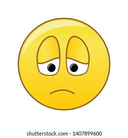 Sullen emoticons with a sluggish face