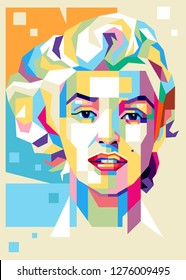 Sumbawa Indonesia, January 6th, 2019: Marilyn Monroe (1 June 1926 - 5 August 1962) is an American actress and model. Illustration