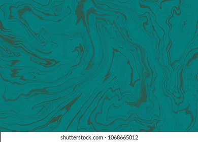 Suminagashi marble texture hand painted with teal ink. Digital paper 1779. Dazzling liquid abstract background.