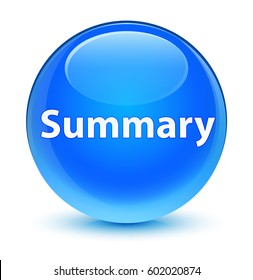 Summary isolated on glassy cyan blue round button abstract illustration