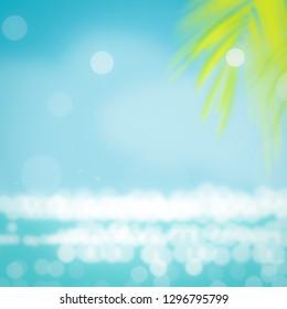 Summer backgorund beach abstract tropical