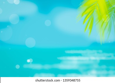 Summer background abstract beach sun