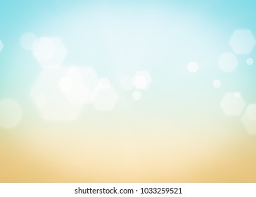 Summer background abstract gradient sun light. Blue yellow wallpaper earth.