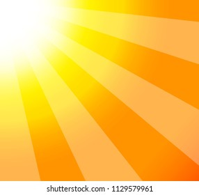 Summer background of sun-rays abstract closeup view. Bright sunshine
