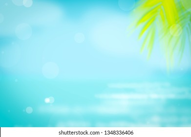 summer beach nature blur blue sea sky