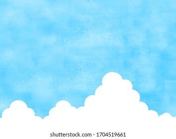Summer blue sky and cumulonimbus