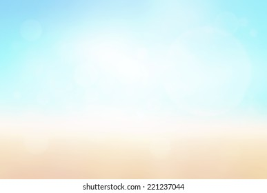 Summer holiday concept: Bokeh light with abstract blurred beauty nature background.