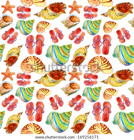 5a557ff6a1c053 Royalty Free Stock Illustration of Summer Holiday Pattern Sea Shells ...