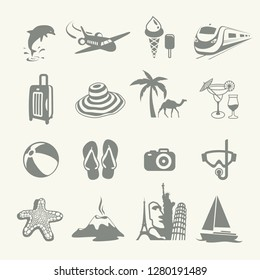 Summer Icons. Travel Vacation Icon set