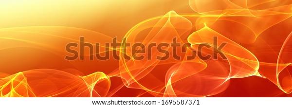 Summer orange art beach illustration background