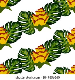 Yellow Plumeria Pattern Stock Illustrations Images Vectors Shutterstock
