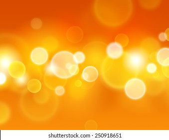 Summer sensation. Abstract warm background with glowing light circle effects