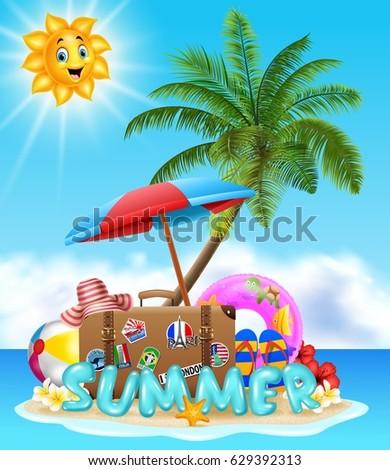 1b4c7525236c0 Summer Vacation Background Stock Illustration 629392313 - Shutterstock