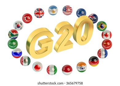 Summit G20 concept isolated on white background