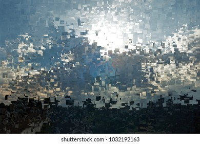 the sun behind the clouds, tribute to Pollock, Abstract expressionism, composition with sparkles and diffusion of colors.,  graphic,