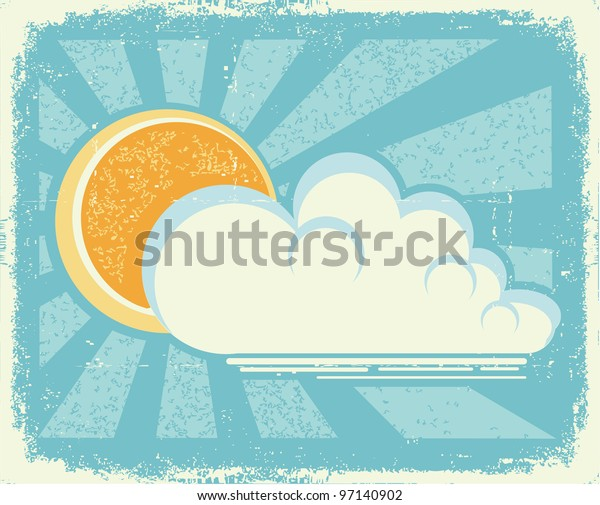 Sun and clouds.Raster