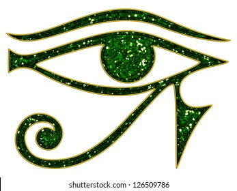 Sun Eye of Horus - reverse Moon Eye of Thoth - ancient Egyptian symbol of protection