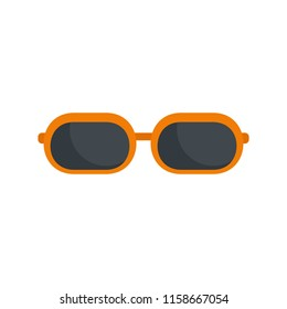 Sun glasses icon. Flat illustration of sun glasses icon for web isolated on white