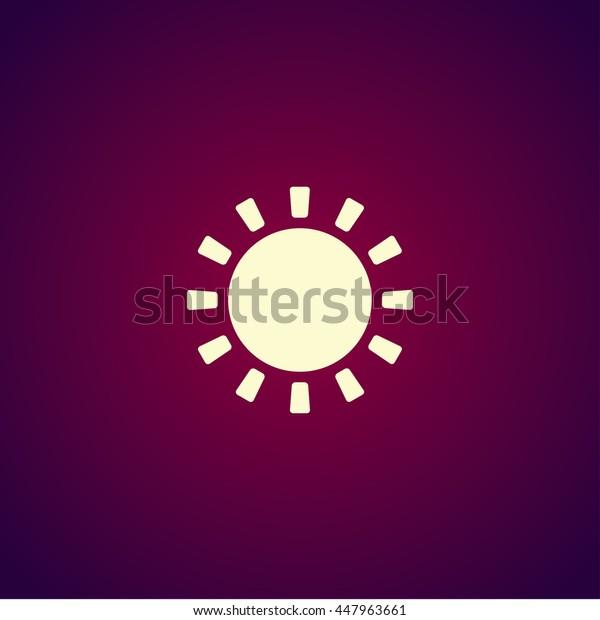 Sun Icon. Flat design style
