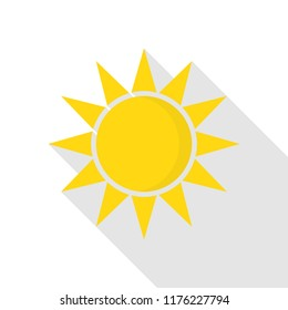 Sun icon. Flat illustration of sun icon for web