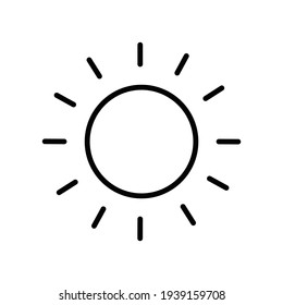 Sun icon isolated on background