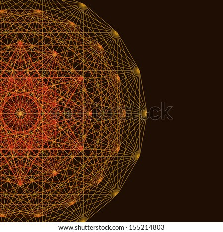 Sun Mandala Wallpaper Background Stock Illustration 155214803