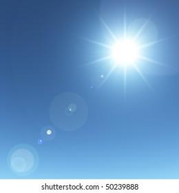 Sun sky background