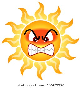 The sun with which it gets angry