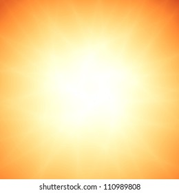 Sunbeam abstract orange pattern background
