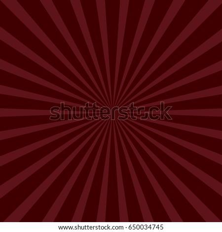 Sunburst Starburst With Ray Of Light Bordo Color Template Background Flat Design
