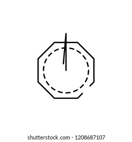 sundial icon. Element of speed icon for mobile concept and web apps. Thin line sundial icon can be used for web and mobile