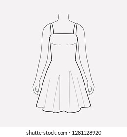 Sundress icon line element.  illustration of sundress icon line isolated on clean background for your web mobile app logo design.