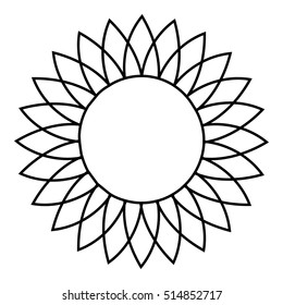 Sunflower icon. Outline illustration of sunflower  icon for web