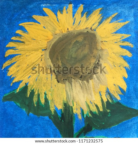 sunflower painting drawing
