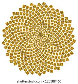 Sunflower Seeds - Golden Ratio / Golden Spiral  /  Fibonacci spiral, golden cut, Pi