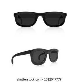 Sunglasses. 3d rendering illustration isolated on white background