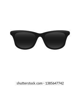 Sunglasses dark black object icon illustration transperent isolated