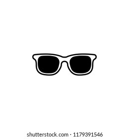 Sunglasses icon. Simple glyph illustration ofsummer for UI and UX, website or mobile application on white background