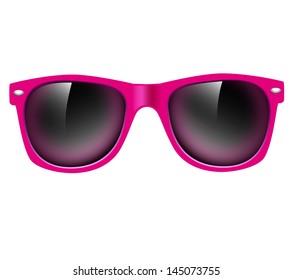 Sunglasses isolated. illustration background
