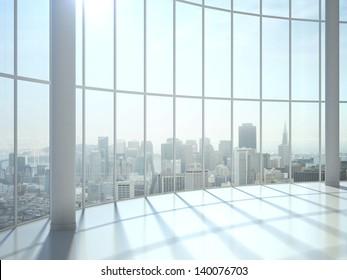 sunlight interior and big window