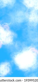 Sunny Blue Sky With White Clouds Illustration for Background
