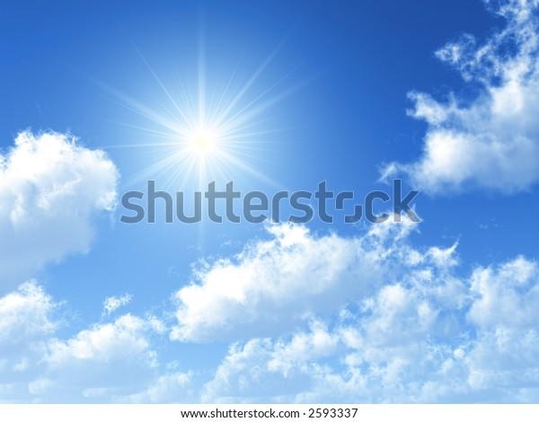 sonniger Himmelshintergrund