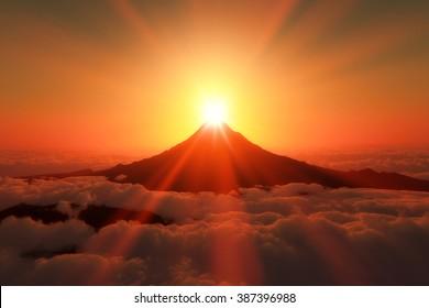 Sunrise of Mount Fuji