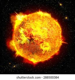 Sun/Star Digital Illustration