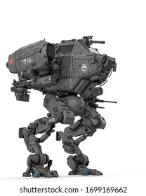 super combat machine, 3d illustration